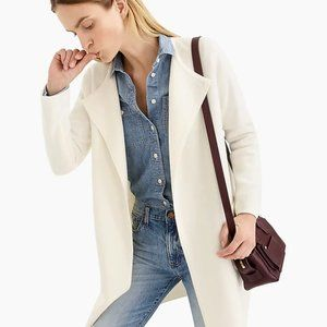 J. CREW Juliette collarless sweater-blazer S